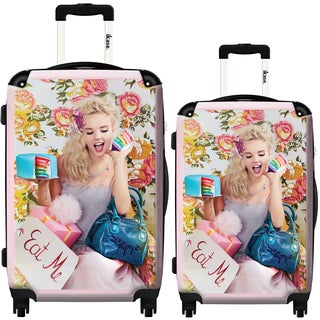 iKase Eat Me by Lollipops 2-piece Hardside Spinner Luggage Set