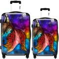 iKase Night Mermaid 2-piece Hardside Spinner Luggage Set