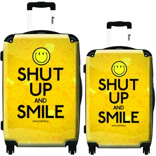 iKase Shut Up and Smile 2-piece Hardside Spinner Luggage Set