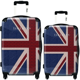 iKase London Flag by Lollipops 2-piece Hardside Spinner Luggage Set