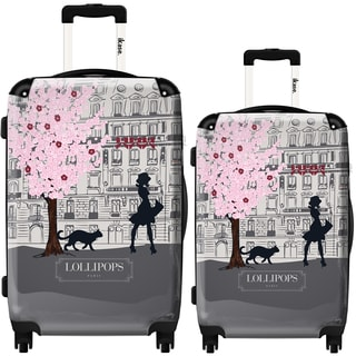 iKase Lollipops Walk Grey 2-piece Hardside Spinner Luggage Set