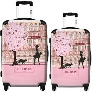 iKase Lollipops Walk Pink 2-piece Hardside Spinner Luggage Set
