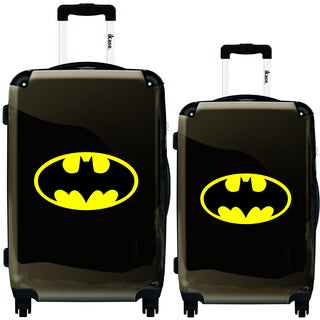 iKase Yellow Batman 2-piece Hardside Spinner Luggage Set