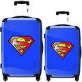 iKase Vintage Superman 2-piece Hardside Spinner Luggage Set