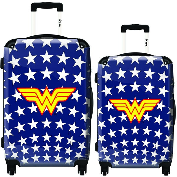 iKase Wonder Woman Stars 2-piece Hardside Spinner Luggage Set