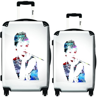 iKase Audrey Pop Art 2-piece Hardside Spinner Luggage Set