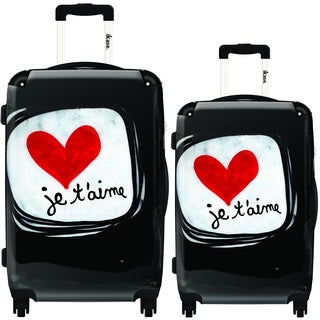 iKase Je T'aime 2-piece Hardside Spinner Luggage Set