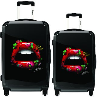 iKase Tattoo Lips 2-piece Hardside Spinner Luggage Set