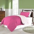 Love Printed Hearts Reversible 3-piece Comforter Set