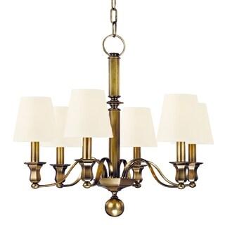 Hudson Valley Charlotte 6-light Chandelier, Aged Brass