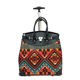 Aztec Foldable Rolling Carry-on 14-inch Laptop/ Tablet Tote Bag