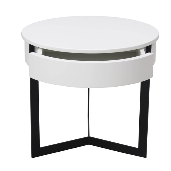 George End Table White