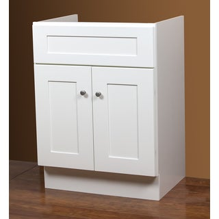 Linen White Bath Vanity Base 24 inches x 18 inches