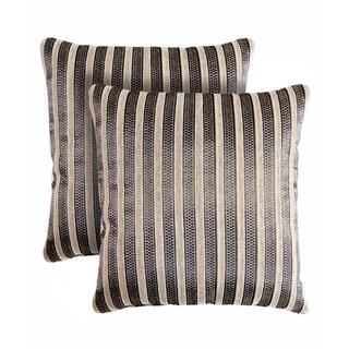 Slumber Shop Richmond Stripe Decorative 18-inch Throw Pillow (Set of 2)