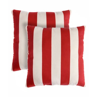 Slumber Shop Regal Stripe Decorative 18-inch Throw Pillow (Set of 2)