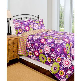 Slumber Shop Karlie Reversible 3-piece Quilt Set