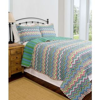 Slumber Shop Zanadu Reversible 3-piece Quilt Set