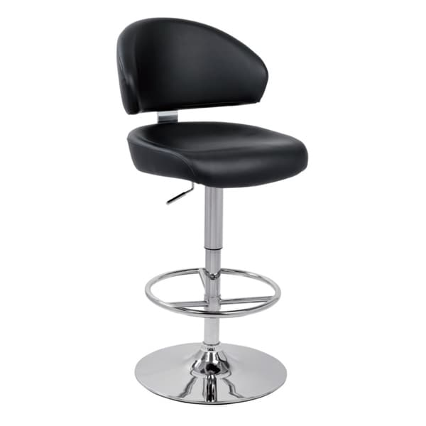 Modrest Eco-leather Contemporary Black Barstool