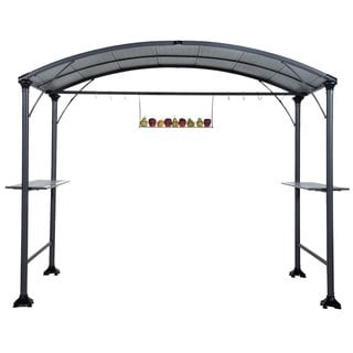 Abba patio 9 x 5-foot Outdoor BBQ Grill Gazebo with Steel Frame and Roofs