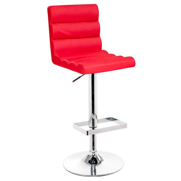 Modrest Red Eco-leather Contemporary Barstool