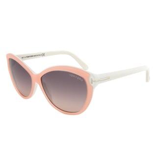 Tom Ford FT0325 74B Telma Opal Rose Cateye Sunglasses