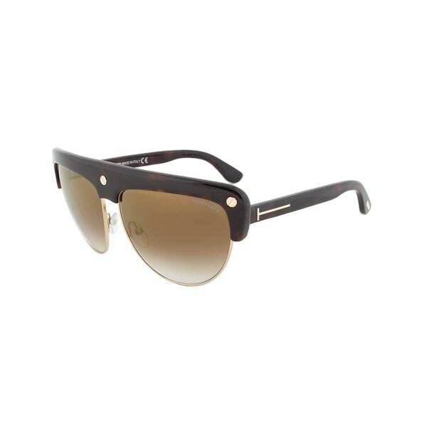 Tom Ford TF318 52G Liane Shield Tortoise Brown Sunglasses