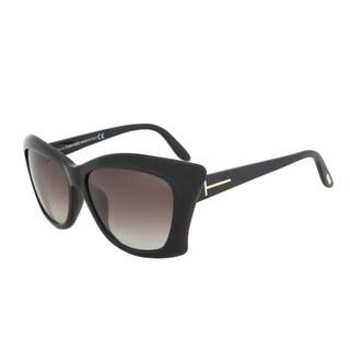 Tom Ford FT9280 01B Lana Black/ Brown Gradient Asian Fit Sunglasses