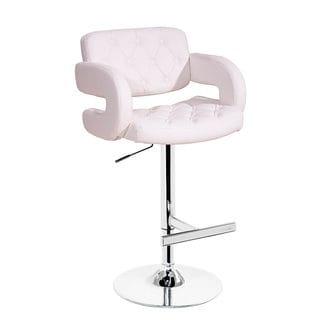 Modrest Eco-leather White Contemporary Barstool