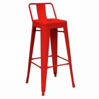 Modrest Red Modern Metal Barstool