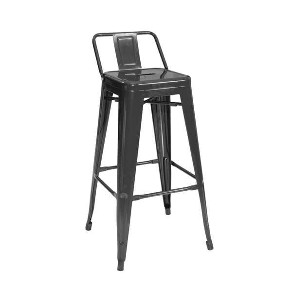 Modrest Black Modern Metal Barstool Set Of 4 17391365