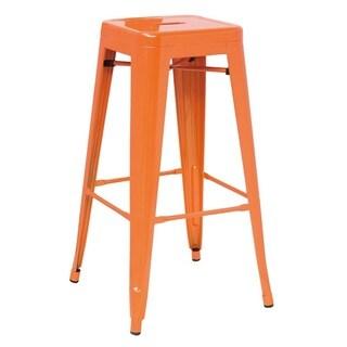 Modrest Modern Orange Metal Barstool (Set of 4)