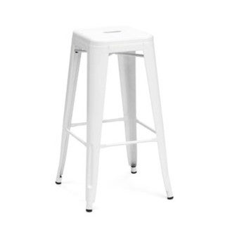 Modrest Modern White Metal Barstool (Set of 4)