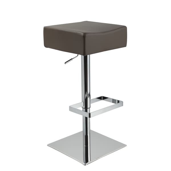 Modrest Eco-leather Contemporary Beige Barstool