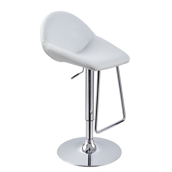 Modrest Eco-leather Contemporary White Barstool
