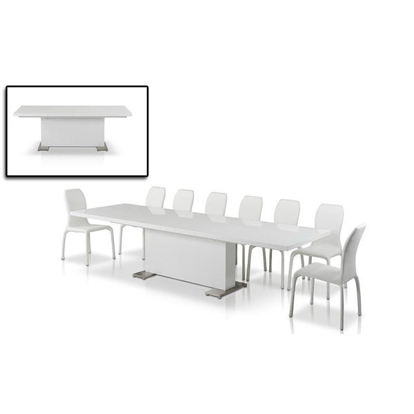 Modrest Bono 'T' Modern White Dining Table