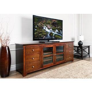 Abbyson Living Magnolia Walnut Wood 72-inch TV Console