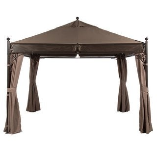 Abba Patio 11 x 11-foot Outdoor Art Steel Frame Garden Party Canopy Backyard Gazebo with 4 Side Walls