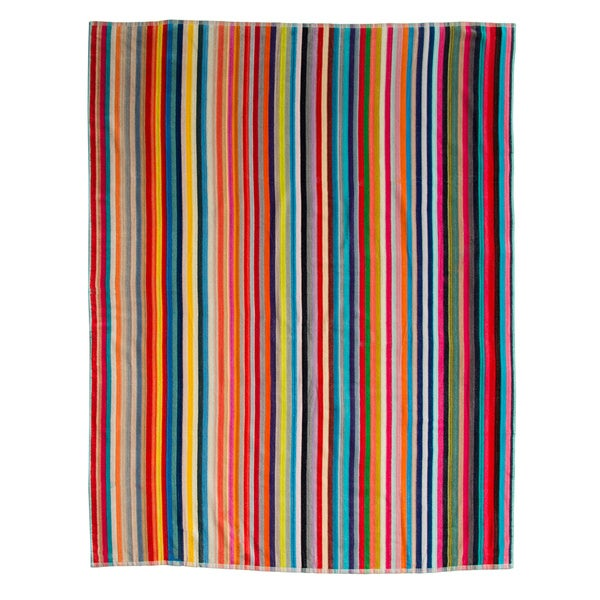 Oversized Candy-Stripe Beach Towel 60 x 70 inches