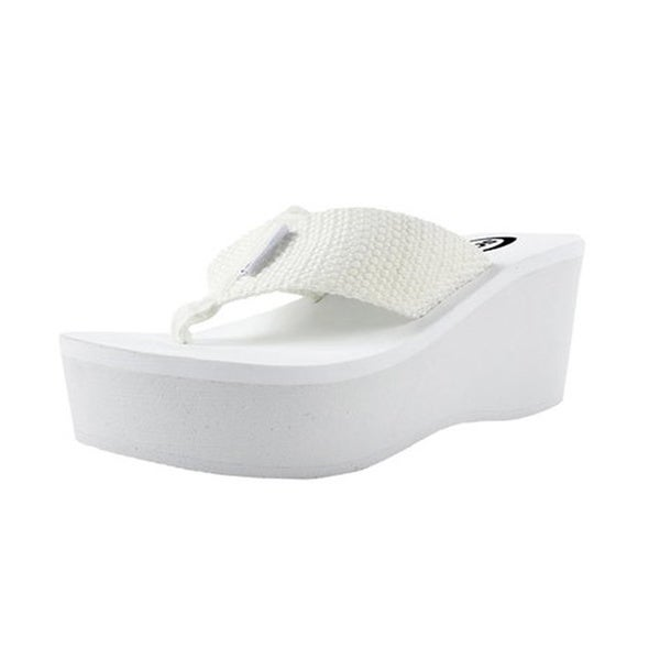 Women's White EVA Wedge Flip-Flop