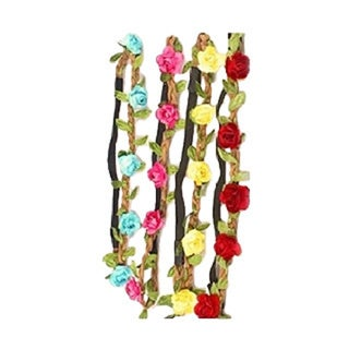 Braided Flower Headband - Set of Two