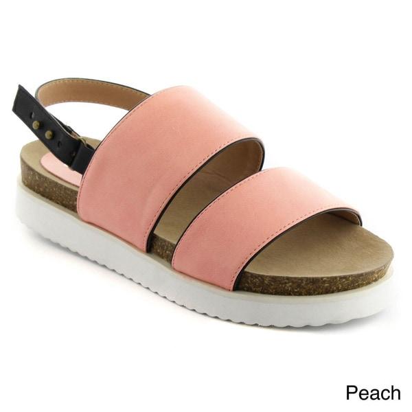 MI IM HYPER-01 Women's Bold Platform White Sole Sling Back Fashion Sandals