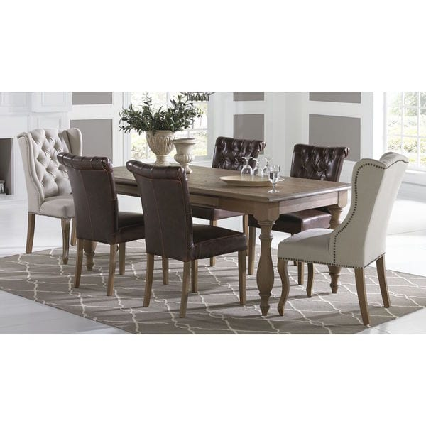 Somette Prescott 7 Piece Dining Set with Assorted Chairs
