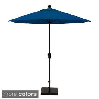 MIYU Furniture 7.5-foot Fiberglass Market Umbrella with Crank