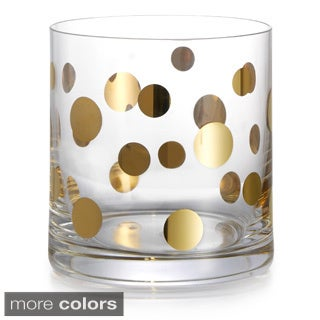 Fitz & Floyd Gold Dots Old Fashion Glasses (Set of 4)