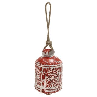 Decorative Red Metal Bell