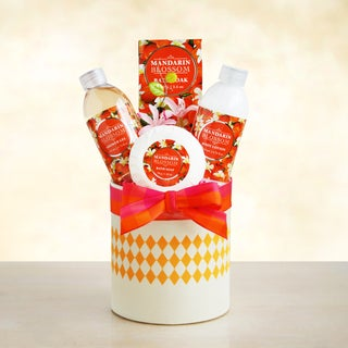 California Delicious Mandarin Blossom Spa Gift Basket