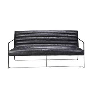 Vermont Black Two-seater Sofa