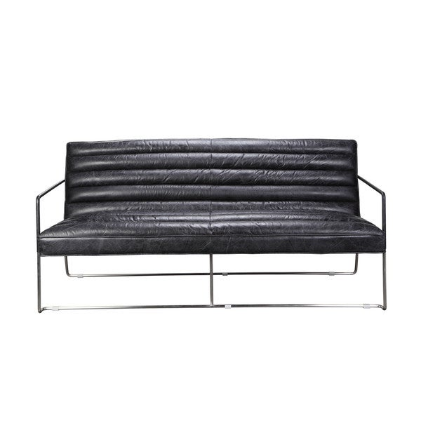 Vermont Black Two-seater Sofa