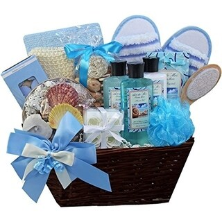 Art of Appreciation Seaside Getaway Spa Bath and Body Gift Basket Set