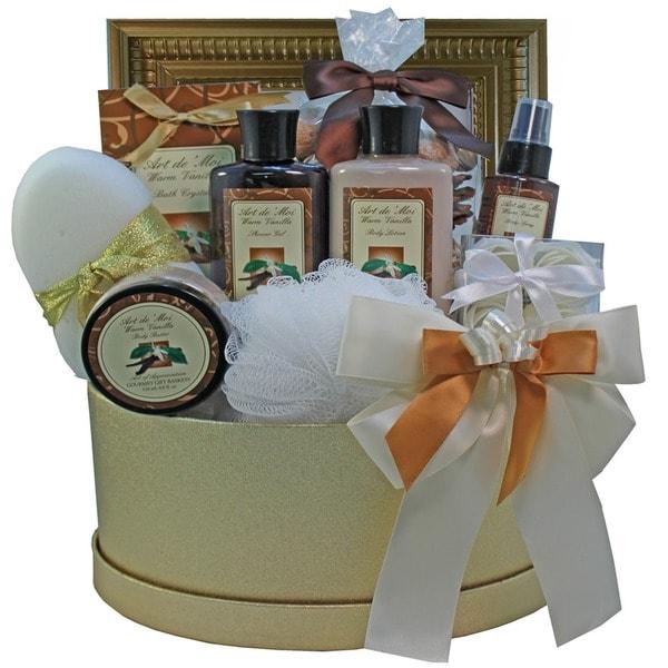 Sophisticated Luxury Vanilla Spa Bath and Body Gift Basket Set